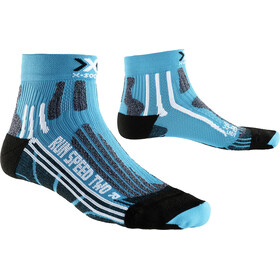 X-Socks Run Speed Two Short Socks Women Turquoise/Black